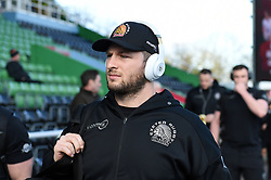 Alec Hepburn and the rest of the Exeter Chiefs team arrive at the Stoop - Mandatory byline: Patrick Khachfe/JMP - 07966 386802 - 29/02/2020 - RUGBY UNION - The Twickenham Stoop - London, England - Harlequins v Exeter Chiefs - Gallagher Premiership