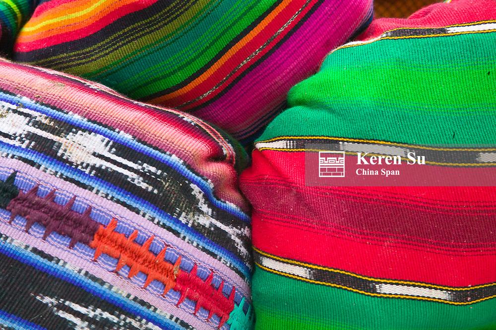 Colorfully dressed people, Chichicastenango, Guatemala