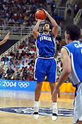 ATENE, 28 AGOSTO 2004<br /> OLIMPIADI ATENE 2004<br /> BASKET FINALE<br /> ITALIA - ARGENTINA<br /> NELLA FOTO: RODOLFO ROMBALDONI<br /> FOTO CIAMILLO