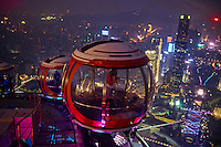 Chine, Guangdong, Guangzhou ou Canton, ville nouvelle de Zhujiang, TV tower, funiculaire // China, Guangdong province, Guangzhou or Canton, Zhujiang new city, TV Tower, Ferris Wheel