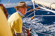 Sailing onboard 12 Meter Class Kate at the St. Maarten Classic Yacht Regatta