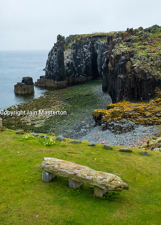 View of Pilgrim's Haven on Isle of May National Nature Reserve, Firth of Forth, Scotland, UK