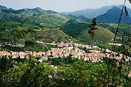 Verbicaro, Italia -4 giugno 2011. Una veduta del paese di Verbicaro in Calabria..Ph. Roberto Salomone Ag. Controluce.ITALY - A view of the town of Verbicaro in Calabria region on June 4, 2011.