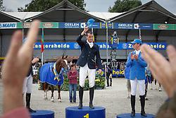 Podium Sires of the World<br /> 1. Gregory Wathelet (BEL)<br /> 2 Tim Rieskamp Goedeking (GER)<br /> 3. Christian Ahlmann (GER)<br /> FEI Zangersheide Sires of the World - Lanaken 2013<br /> © Dirk Caremans