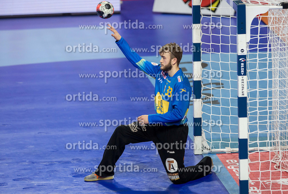 Gonzalo Perez de Vargas of Spain during handball match between National teams of Spain and Sweden on Day 6 in Preliminary Round of Men's EHF EURO 2016, on January 20, 2016 in Centennial Hall, Wroclaw, Poland. Photo by Vid Ponikvar / Sportida