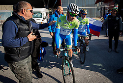 Primoz Roglic and Grega Bole of Slovenia prior to the Men Elite Road Race at 258.5km Race from Kufstein to Innsbruck 582m at the 91st UCI Road World Championships 2018 / RR / RWC / on September 30, 2018 in Innsbruck, Austria. Photo by Vid Ponikvar / Sportida