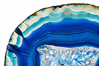 Azure Blue Agate coasters designed by Anna Rabinowicz of RabLabs.