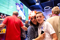 Fans watch England vs Wales on screens in the Sports Bar and Grill at Ashton Gate - Mandatory by-line: Robbie Stephenson/JMP - 16/06/2016 - FOOTBALL - Ashton Gate - Bristol, United Kingdom  - England vs Wales - UEFA Euro 2016