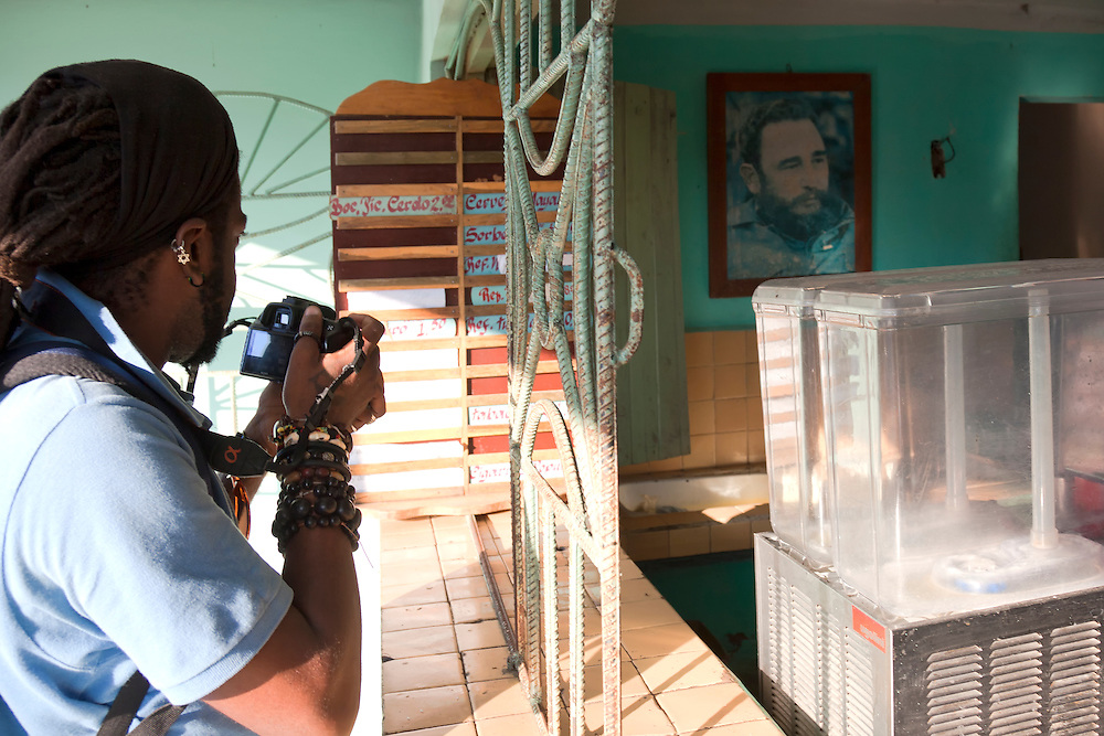 Photographer in Cueto, Holguin, Cuba.