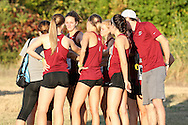 September 5, 2015: The Oklahoma Christian University Eagles women's cross country team participates in the UCO Land Run at Santa Fe High School in Edmond, OK.