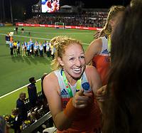 AMSTELVEEN - Margot van Geffen (Ned)   na de damesfinale Nederland-Belgie bij de Rabo EuroHockey Championships 2017. COPYRIGHT KOEN SUYK