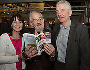 """Rosemary Cunningham, Ballpoint press,  David Lohan, sponsor of the book and Pj Cunningham Ballpoint Press  at the launch of Ronan Scully's New book """"Time Out"""" An Innovative collaboration of words, reflections and stories of goodness, tenderness and positivity for all our lives combine to great effect in this new publication published by Ballpoint Press in aid of Self Help Africa and `The Irish Guide dogs for the Blind  at Hotel Meyrick in Galway. Picture:Andrew Downes"""