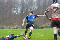 Eddie Walsh scored all 9 points for Westport (3 pens) as they defeated Cooke RFC Belfast to reach the semi final of the All Ireland Junior Cup...Pic Conor McKeown