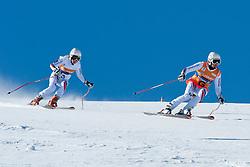 FRANTSEVA Alexandra Guide ZABOTIN Pavel, RUS, Super G, 2013 IPC Alpine Skiing World Championships, La Molina, Spain