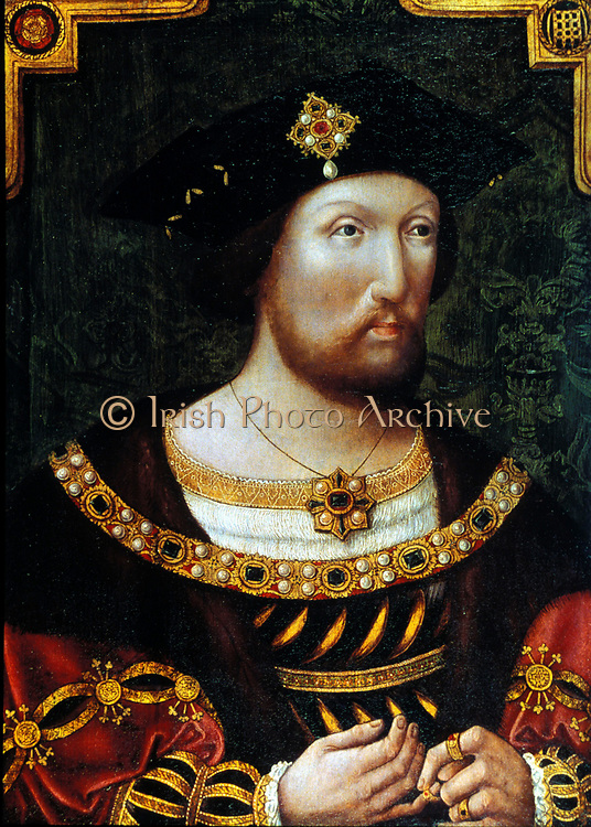 Henry VIII (1491-1547) king of England and Ireland  from 1509. Anonymous portrait c1520.