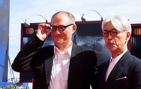 Stephen Nomura Schible and Ryuichi Sakamoto at the premiere of the film Ryuichi Sakamoto: Coda at the 74th Venice Film Festival, Sala Grande on Sunday 3 September 2017, Venice Lido, Italy.