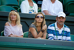 03.07.2014, All England Lawn Tennis Club, London, ENG, WTA Tour, Wimbledon, Tag 10, im Bild Parents of Lucie Safarova Jana [L] and Milan during the Ladies' Singles Semi-Final match on day ten // during day 10 of the Wimbledon Championships at the All England Lawn Tennis Club in London, Great Britain on 2014/07/03. EXPA Pictures &copy; 2014, PhotoCredit: EXPA/ Propagandaphoto/ David Rawcliffe<br /> <br /> *****ATTENTION - OUT of ENG, GBR*****