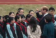 SHANGHAI, CHINA - MARCH 03: (CHINA OUT) <br /> <br /> The Duke Of Cambridge Visits Shanghai Nanyang High School<br /> <br /> Prince William, Duke of Cambridge, attends a football activity at Nanyang High School on March 3, 2015 in Shanghai, China. The Duke of Cambridge is on a three-day visit to China. He is the first senior British royal to visit China since the Queen and Prince Philip visited China in 1986. <br /> ©Exclusivepix Media