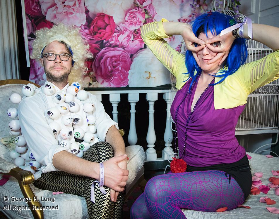 Mardi Gras portraits at Stacy Hoover's Wonderland, 2018