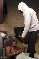 EXCLUSIVE: ** NO USA TV AND NO USA WEB ** A Georgia Tech football player straight up KNOCKED OUT his teammate during a fight in the GT athletic facility ... and TMZ Sports has the video. The players are GT starting defensive backs Step Durham and Lance Austin -- who got into a heated altercation earlier this year, before Spring Practice began. As a shirtless Lance walks towards his teammate, Step ... he gets hit with a quick right hook on the chin -- instantly putting Lance to sleep. 28 Nov 2017 Pictured: Step Durham and Lance Austin. Photo credit: TMZ/MEGA TheMegaAgency.com +1 888 505 6342