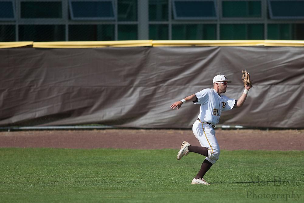 Rowan University Senior Outfielder Matt Hill (21); Rowan University Baseball hosts Elizabethtown College on Tuesday April 17, 2012 in Glassboro, NJ. (photo / Mat Boyle)