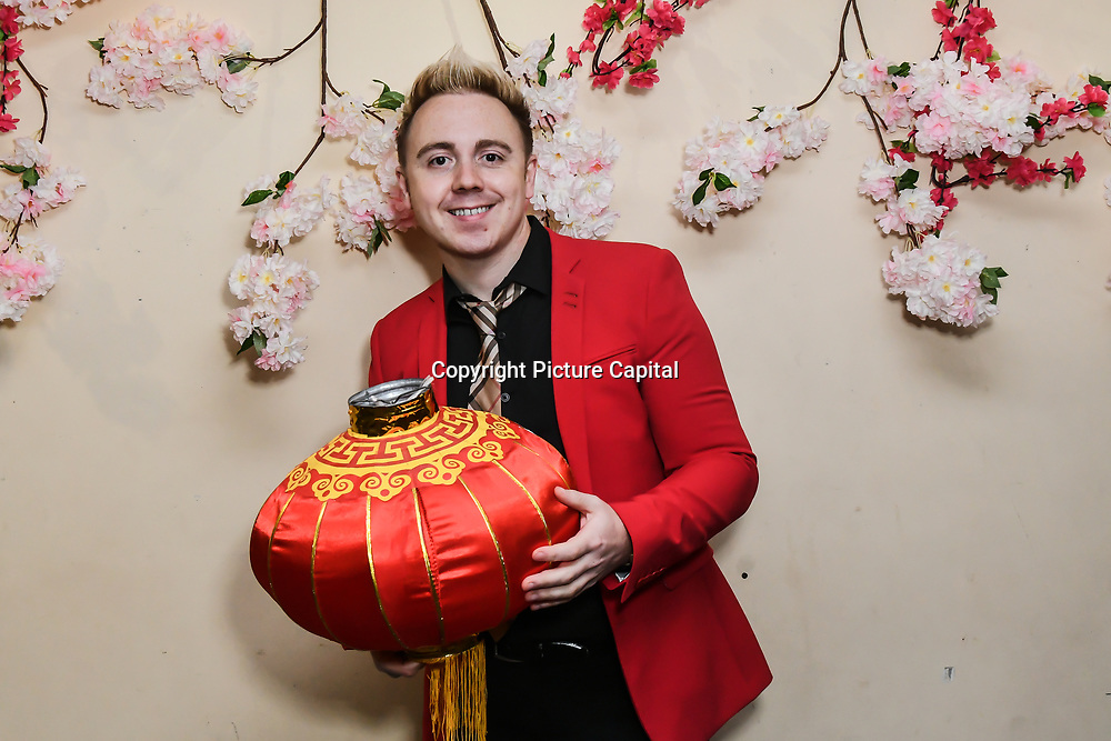 John Galea - British singer-songwriter attends the 7th 2019 Chinese New Year Extravaganza showcasing more than 300 performers including musical Chinese dance , Taiji ,Kungfu,magic face change and much more at Logan Hall. The performance from more than 20 arts groups from China and UK on 2nd Febuary 2019, London, UK.