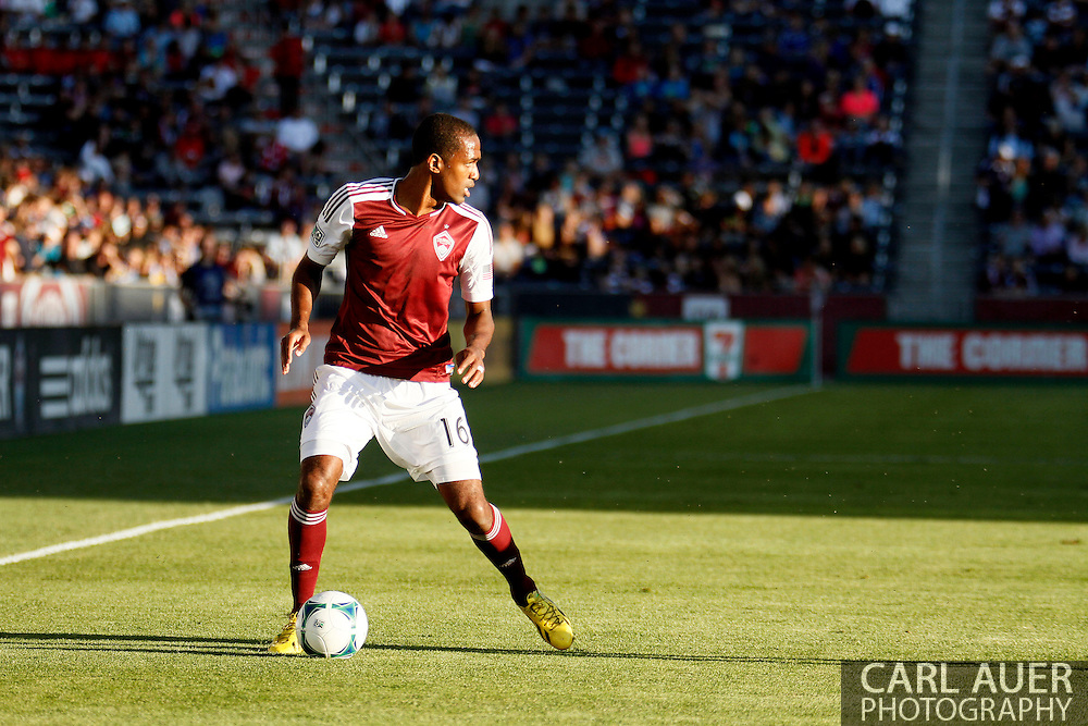 June 1st, 2013 - Colorado Rapids midfielder Atiba Harris (16) looks for a pass in first half action of the MLS match between FC Dallas and the Colorado Rapids at Dick's Sporting Goods Park in Commerce City, CO