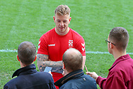 Tom Johnstone of England during a press conference at Leigh Sports Village, Leigh<br /> Picture by Steve McCormick/Focus Images Ltd 07545 862647<br /> 16/10/2018