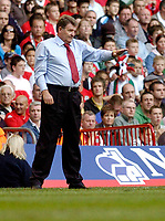 Photo: Leigh Quinnell.<br /> Wales v Slovakia. UEFA European Championships 2008 Qualifying. 07/10/2006. Wales manager John Toshack on the tuch line.