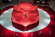 Geneva Motorshow 2013 - LaFerrari before being unveiled.