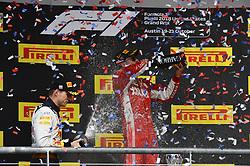 October 21, 2018 - Austin, United States - Motorsports: FIA Formula One World Championship; 2018; Grand Prix; United States, FORMULA 1 PIRELLI 2018 UNITED S GRAND PRIX , Circuit of The Americas#7 Kimi Raikkonen (FIN, Scuderia Ferrari), #33 Max Verstappen (NDL, Red Bull Racing) (Credit Image: © Hoch Zwei via ZUMA Wire)