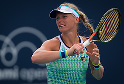 March 25, 2019 - Miami, FLORIDA, USA - Kiki Bertens of the Netherlands in action during her fourth-round match at the 2019 Miami Open WTA Premier Mandatory tennis tournament (Credit Image: © AFP7 via ZUMA Wire)
