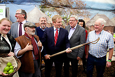 Taoiseach Enda Kenny at Gorta Stand at The National Ploughing Championships 2014.