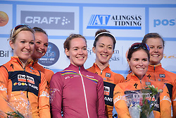 Boels Dolmans win the Crescent Vargarda - a 42.5 km team time trial, starting and finishing in Vargarda on August 11, 2017, in Vastra Gotaland, Sweden. (Photo by Sean Robinson/Velofocus.com)