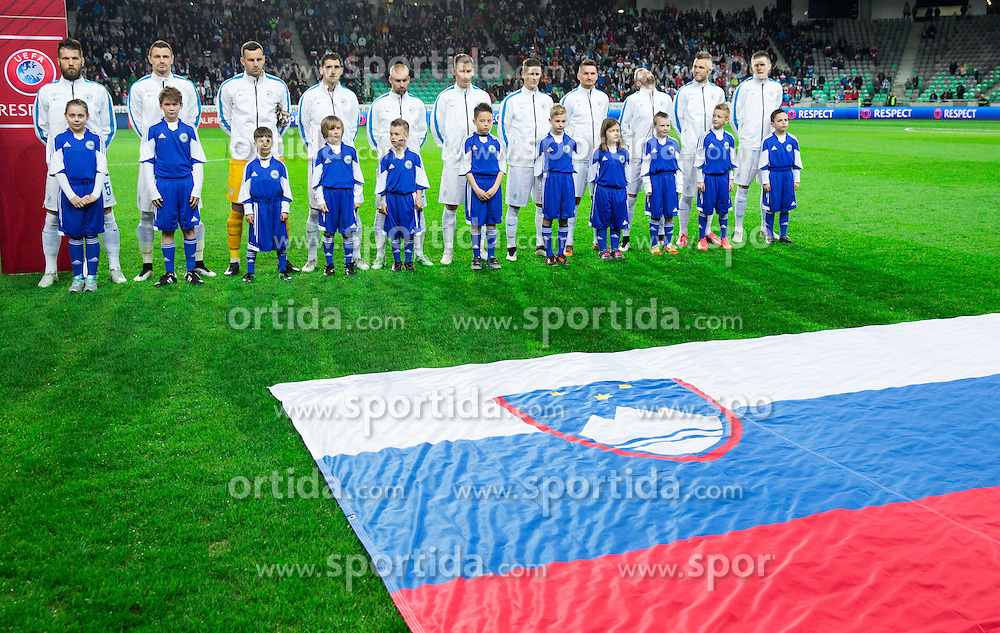 Team Slovenia prior to the football match between NationalTeams of Slovenia and San Marino in Round 5 of EURO 2016 Qualifications, on March 27, 2015 in SRC Stozice, Ljubljana, Slovenia. Photo by Vid Ponikvar / Sportida
