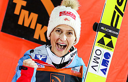 12.12.2015, Nordic Center, Nizhny Tagil, RUS, FIS Weltcup Ski Sprung, Nizhny Tagil, Damen, im Bild Eva Pinkelnig (AUT, 3. Platz) // 3rd placed Eva Pinkelnig of Austria during Ladies Skijumping Competition of FIS Skijumping World Cup at the Nordic Center in Nizhny Tagil, Russia on 2015/12/12. EXPA Pictures © 2015, PhotoCredit: EXPA