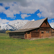 Mormon Row Barn - Grand Tetons, WY - Lensbaby