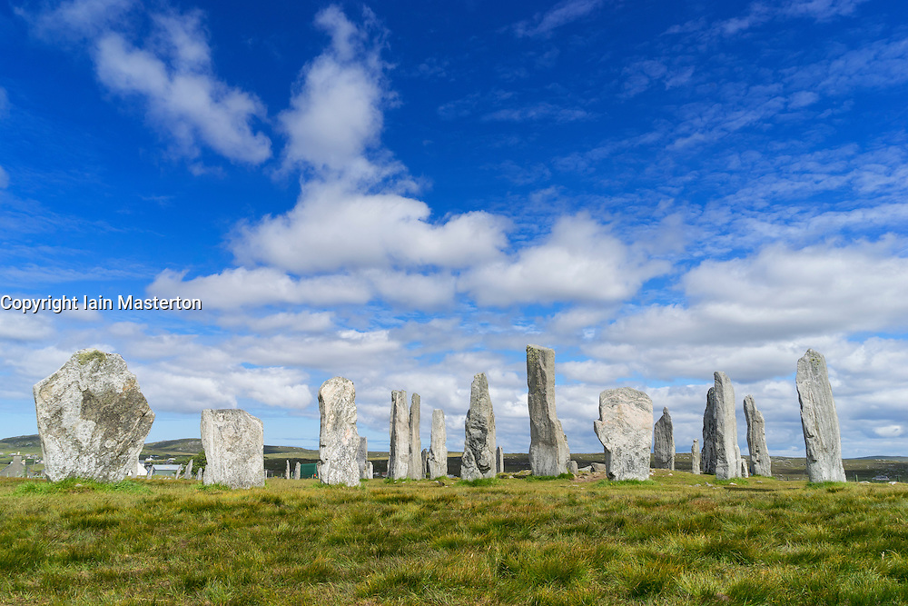 Callanish (gaelic Calanais)  Stones at Callanish village on Isle of Lewis in the Outer Hebrides in Scotland