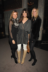 Left to right, JANE GOTTSCHALK, LISA BILTON and KATE DRIVER at a party to celebrate the launch of the Astley Clarke Fine Jewellery Collection held at The Connaught hotel, London W1 on 28th February 2008.<br />
