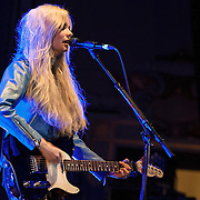 Scots singing sensation teenager Nina Nesbitt plays to a home crowd in Edinburgh's Usher Hall. (PLEASE DO NOT REMOVE THIS CAPTION)<br /> This image is intended for portfolio use only.. Any commercial or promotional use requires additional clearance. <br /> &copy; Copyright 2014 All rights protected.<br /> first use only<br /> contact details<br /> Stuart Westwood <br /> 07896488673<br /> stuartwestwood44@hotmail.com<br /> no internet usage without prior consent. <br /> Stuart Westwood reserves the right to pursue unauthorised use of this image . If you violate my intellectual property you may be liable for damages, loss of income, and profits you derive from the use of this image.