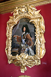 Chateau de Chenonceau:  A Rigaud portrait of Louis XIV, framed with exuberance by Lepautre, glows from the walls of the Louis XIV living room.  The king gifted it to his uncle, the Duke of Vendome, in commemoration of Louis's visit to Chenoneau on July 14, 1650.