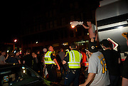 June 16, 2011, Boston, MA - Scenes from outside the TD Garden of fans celebrating the Stanley Cup victory of the Boston Bruins. Photo by Lathan Goumas.