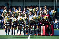 BREDA - het team van Japan  na  de finale  Nederland-Japan (8-2) van de 4 Nations Trophy dames 2018 . COPYRIGHT KOEN SUYK