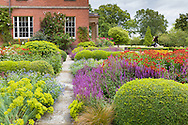 Designed by Tom Stuart-Smith, the parterre at Cogshall Garnge, Cheshire, is rich in summer colour