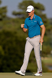 September 22, 2018 - Atlanta, Georgia, United States - Justin Rose reacts after birdie putting the 16th green during the third round of the 2018 TOUR Championship. (Credit Image: © Debby Wong/ZUMA Wire)