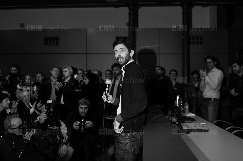 Roberto Speranza during the presentation of the new left party 'Democratici e Progressisti' born from the split of the 'Democratic Party' and 'Italian Left'. Rome, 25 February 2017. Christian Mantuano / OneShot