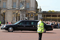 President Obama arrives at Buckingham Palace, London, UK, 24 May 2011:  Contact: Rich@Piqtured.com +44(0)7941 079620 (Picture by Richard Goldschmidt)