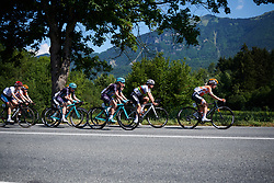 Boels Dolmans and Trek Drops lead the chase at La Course by Le Tour de France 2018, a 112.5 km road race from Annecy to Le Grand Bornand, France on July 17, 2018. Photo by Sean Robinson/velofocus.com