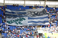Picture by Andrew Tobin/Focus Images Ltd. 07710 761829. 24/03/12 A large Reading FC flag is passed around the ground before the Npower Championship match at Madejski stadium, Reading.
