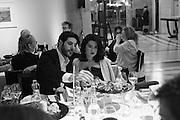 IGNAZIO CORACI ; JAMILA ASKAROVA, at the Whitechapel Gallery Art Icon 2015 Gala dinner supported by the Swarovski Foundation. The Banking Hall, Cornhill, London. 19 March 2015